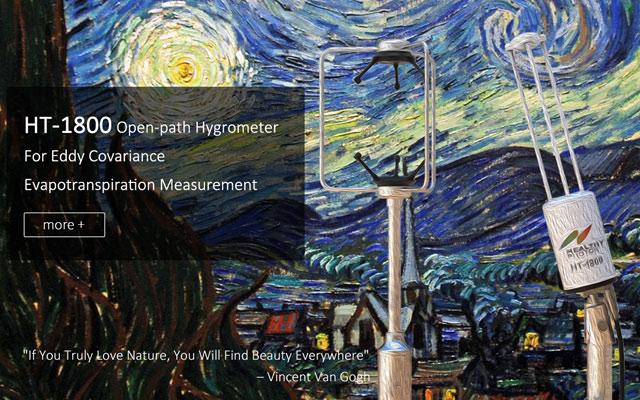 Open-path hygrometer for eddy covariance evapotranspiration (ET) measurement