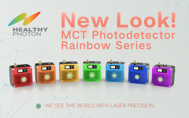 The new colorful look of HealthyPhoton HPPD MCT photodetectors